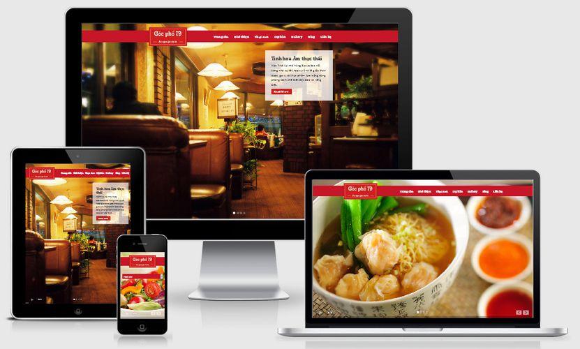 Dịch vụ thiết kế web nhà hàng  - quán ăn chuyên nghiệp chuẩn SEO tại TTC